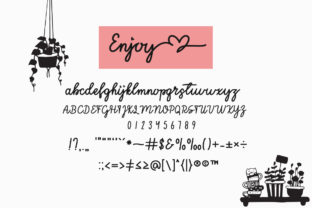 Print on Demand: Enjoy the Little Things Script & Handwritten Font By Fillo Graphic 8