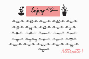 Print on Demand: Enjoy the Little Things Script & Handwritten Font By Fillo Graphic 9