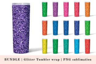 Print on Demand: Glitter STRAIGHT Skinny Tumbler PNG Graphic Print Templates By CuteShopClipArt