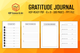 Print on Demand: Gratitude Journal with Keywords Graphic KDP Interiors By eichgr