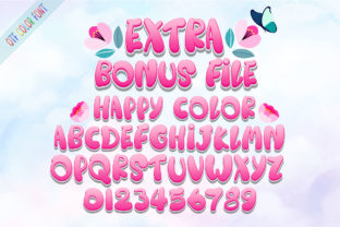 Print on Demand: Happy Rainbow Family Script & Handwritten Font By Nobu Collections 10