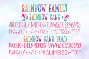 Print on Demand: Happy Rainbow Family Script & Handwritten Font By Nobu Collections 7