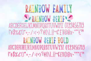 Print on Demand: Happy Rainbow Family Script & Handwritten Font By Nobu Collections 8