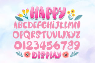 Print on Demand: Happy Rainbow Family Script & Handwritten Font By Nobu Collections 6