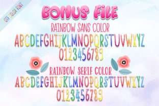 Print on Demand: Happy Rainbow Family Script & Handwritten Font By Nobu Collections 9
