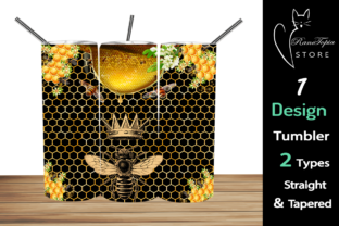 Honey Bees 20 Oz Skinny Tumbler Graphic Graphic Templates By Ranotopia Store