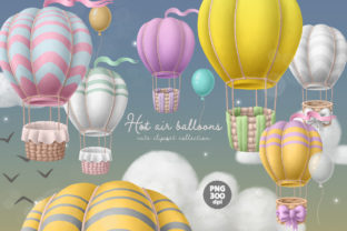 Print on Demand: Hot Air Balloons Clipart Graphic Illustrations By Architekt_AT