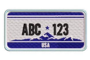 Licence Plate Template Vacation Embroidery Design By Embroidery Designs