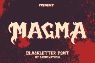 Print on Demand: Magma Blackletter Font By Arendxstudio 1