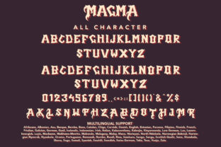 Print on Demand: Magma Blackletter Font By Arendxstudio 8