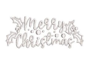 Merry Christmas Stencil Motive Christmas Embroidery Design By Embroidery Designs