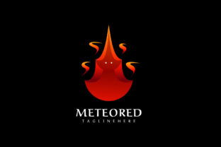 Print on Demand: Meteor - Fire Mascot Logo Graphic Logos By eitiqad