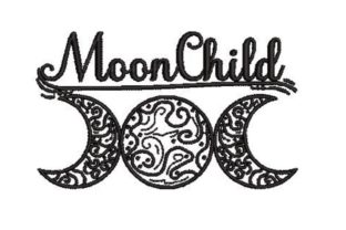 Moon Child Triple Moon Mandala Embroidery Design By Embroidery Designs
