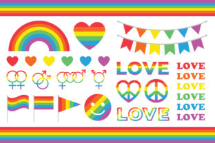 Print on Demand: Rainbow Love & Pride Clip Art Set Graphic Objects By Running With Foxes