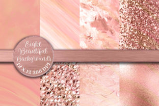Print on Demand: Shades of Peach and Orange Backgrounds Graphic Backgrounds By AM Digital Designs