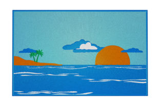 Print on Demand: Sunrise Sea Around the world Embroidery Design By embroidery dp