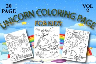 Unicorn Coloring Page for Kids Graphic Coloring Pages & Books Kids By Treaty Art