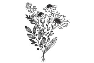 Print on Demand: Wildflowers Bouquets & Bunches Embroidery Design By ArtEMByNatali