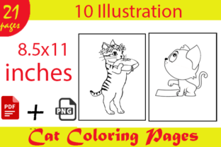Cat Coloring Pages for Kids Kdp Interior Graphic Coloring Pages & Books Kids By Kdp_Hustlers
