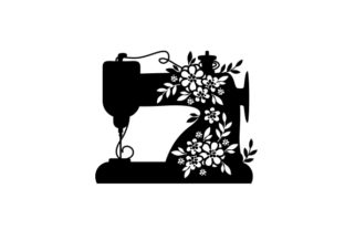 Floral Sewing Machine Hobbies Craft Cut File By Creative Fabrica Crafts