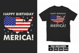 4Th July  America Independence T-shirt Graphic Print Templates By hossaingrde