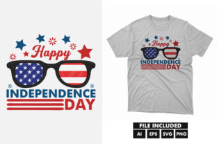 4th of July America Independence T-shirt Graphic Print Templates By hossaingrde