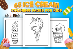 Print on Demand: 60+  Ice Cream Coloring Book for Kids Graphic Coloring Pages & Books Kids By Kristy Coloring