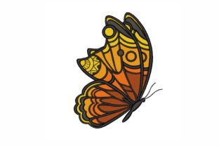 Butterfly Bugs & Insects Embroidery Design By LizaEmbroidery