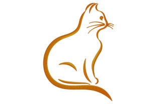 Print on Demand: Cat Silhouette Cats Embroidery Design By embroidery dp