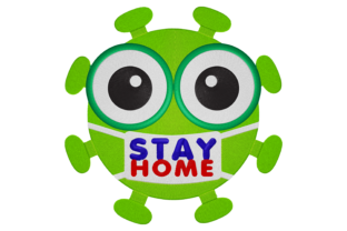 Print on Demand: Covid Stay Away House & Home Embroidery Design By embroidery dp