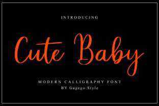 Print on Demand: Cute Baby Script & Handwritten Font By Gagegostyle