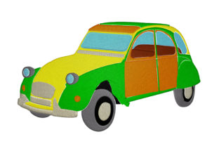 Print on Demand: DCV Car Travel & Season Embroidery Design By embroidery dp