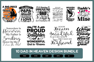 Print on Demand: Dad in Heaven | Dad in Heaven SVG | Dad Graphic Crafts By merchroll