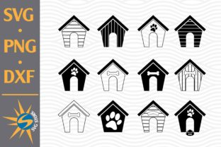 Print on Demand: Dog House Silhouette Graphic Crafts By SVGStoreShop
