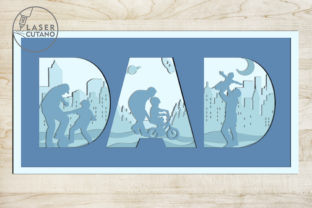Print on Demand: Fathers Day Multilayer Laser Cut Files Graphic 3D SVG By LaserCutano 3
