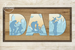 Print on Demand: Fathers Day Multilayer Laser Cut Files Graphic 3D SVG By LaserCutano 4