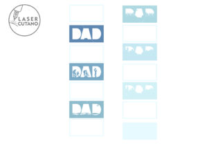 Print on Demand: Fathers Day Multilayer Laser Cut Files Graphic 3D SVG By LaserCutano 6
