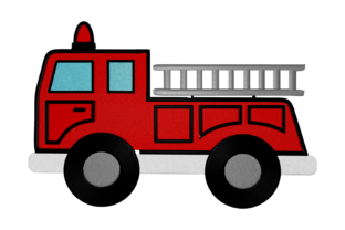 Print on Demand: Fire Truck Cities & Villages Embroidery Design By embroidery dp