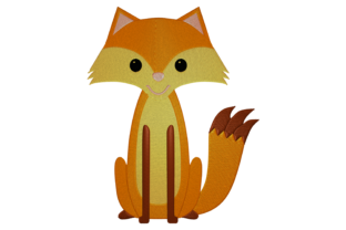 Print on Demand: Fox Animals Embroidery Design By embroidery dp