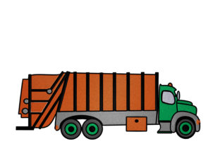 Print on Demand: Garbage Truck Cities & Villages Embroidery Design By embroidery dp