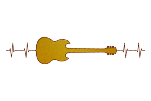 Print on Demand: Guitar House & Home Embroidery Design By embroidery dp