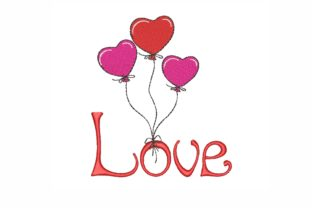 Love Valentine's Day Embroidery Design By LizaEmbroidery