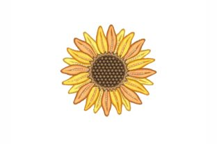 Sunflower Single Flowers & Plants Embroidery Design By NinoEmbroidery
