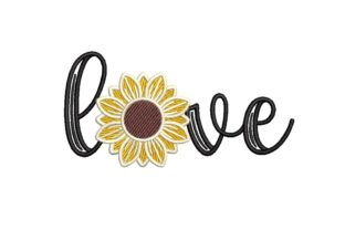 Sunflower Love Valentine's Day Embroidery Design By NinoEmbroidery