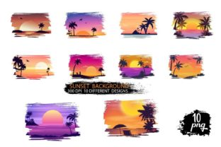 Sunset Background Graphic Backgrounds By Dev Teching 1