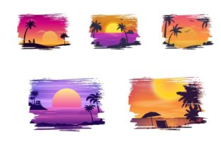 Sunset Background Graphic Backgrounds By Dev Teching 2