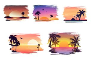 Sunset Background Graphic Backgrounds By Dev Teching 3