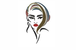 Woman Face Beauty Embroidery Design By LizaEmbroidery