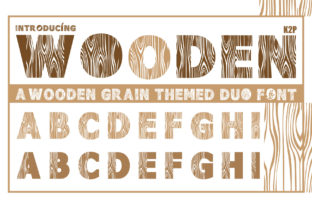 Print on Demand: Wooden Duo Display Font By KtwoP