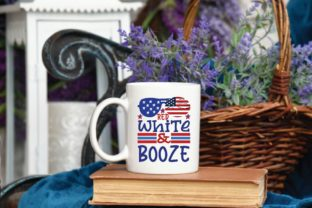 Red White & Booze Svg Graphic Print Templates By designstore